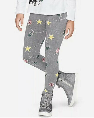 Justice Girls Size 14-16 Holiday Print Leggings New with Tags
