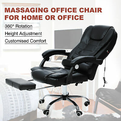 Massage Computer Chair Office Gaming Swivel Recliner Leather Executive Desk