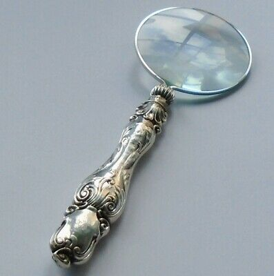 Aaron Hadfield HM Silver Handle Magnifying Glass Sheffield Circa Victoria Period