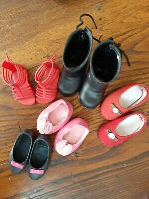 """Lot of 5 Pairs Shoes  To Fit 18"""" American Girl Doll or any 18 """" fasion doll"""