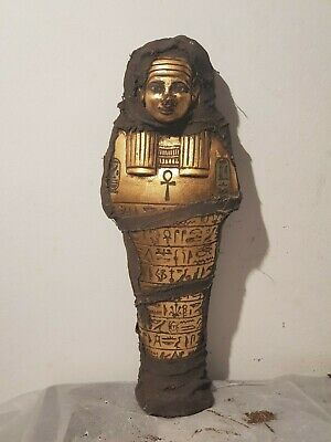 Rare Antique Ancient Egyptian Ushabti Servant minions Water Gold1740-1680BC