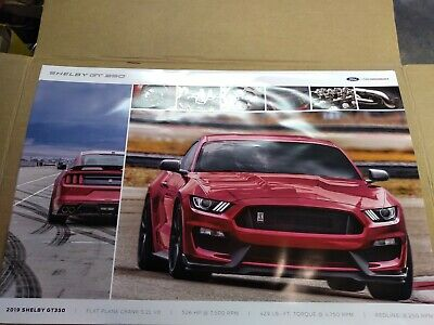 """2020 Ford Mustang Shelby GT350 Red - Dealer Poster 24"""" x 36"""" Free Shipping!!!"""