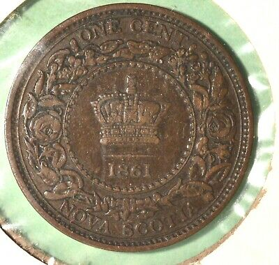 1861 Nova Scotia Large Cent - INV# C-52