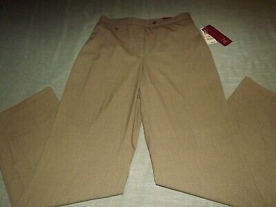 "LADIES JM COLLECTION FLATTENS TUMMY ""MAGIC"" TAUPE DRESS PANTS sz 10 NEW"