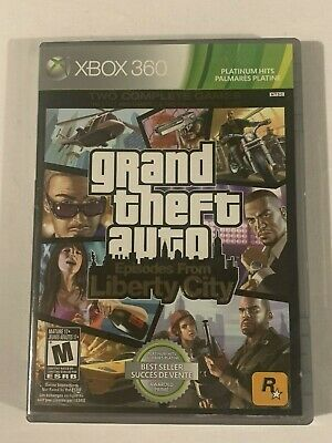 Grand Theft Auto Episodes From Liberty City, XBOX 360, Platinum Hits, COMPLETE