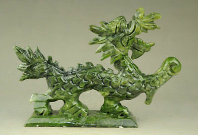 100% Natural Exquisite natural jade statues of hand-carved statues of dragons RT