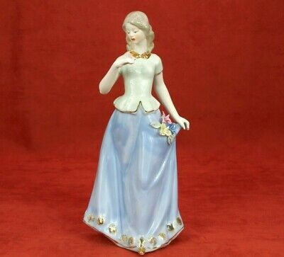 lady statue handmade porcelain home decor woman figurine Collectible 12 inches