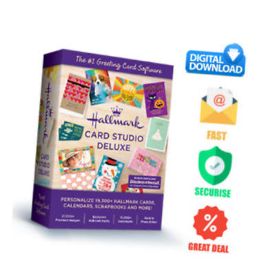 Hallmark Card Studio 2020 Deluxe Software gift and greeting Cards / Preactivated