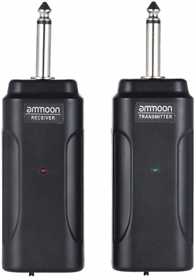 ammoon Wireless Audio Transmitter Receiver System Kit for Electric Guitar Bass