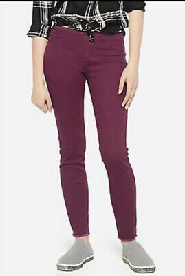 Justice Girls Size 18 Plus Burgundy Color Pull On Jean Jeggings New with Tags