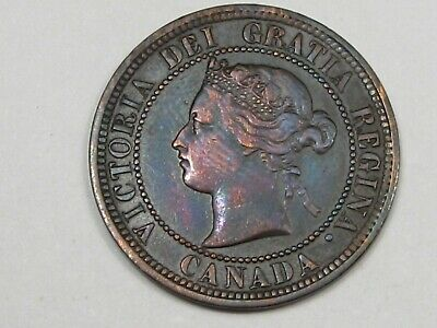 1882-H Canadian Large Cent Penny. CANADA.  #105