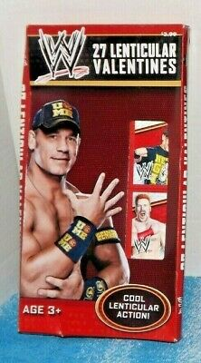 WWE Wrestling Valentine Bookmark Cards for Kids Classroom Party 27 Bookmarks NEW