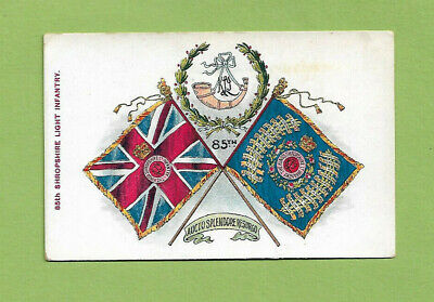 #C.   MILITARY  REGIMENTAL COLOURS  POSTCARD -  85th SHROPSHIRE LIGHT INFANTRY