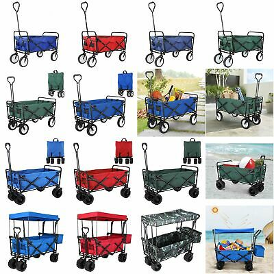 Outdoor Collapsible Folding Utility Wagon Cart Safe Garden Camp Sports Trolley
