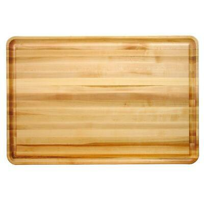 Cutting Board 1.5 in. Thick Reversible Hardwood Edge Grain Rectangle
