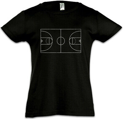 Basketball Court Kids Girls T-Shirt Streetballcourt Streetball Player Center