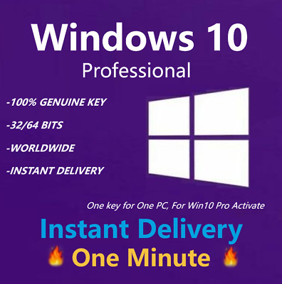 Windows 10 Professional Activate Key 32/64 Bits Win 10 Pro New Instant Ship