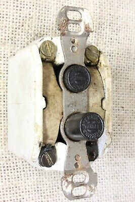 old Push button light switch tested porcelain vintage 3 wire three way Perkins