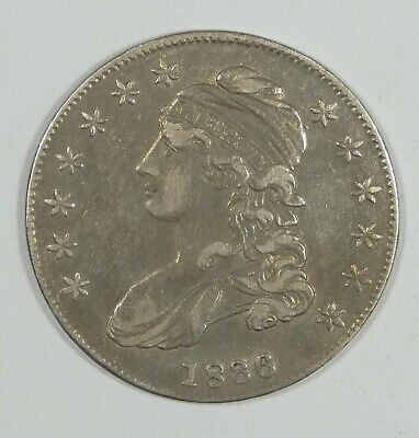 1836 Capped Bust/Lettered Edge Half Dollar EXTRA FINE Silver 50-Cents