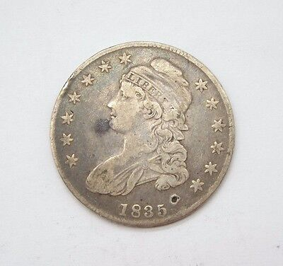 BARGAIN 1835 Capped Bust/Lettered Edge Half Dollar VERY FINE Silver 50c