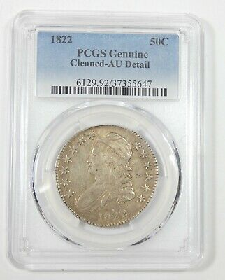 PCGS Genuine 1822 Capped Bust/Lettered Edge Silver 50c AU Detail