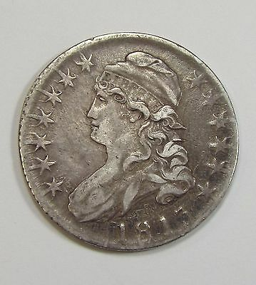 BARGAIN 1813 Capped Bust/Lettered Edge Half Dollar EXTRA FINE Silver 50-Cents