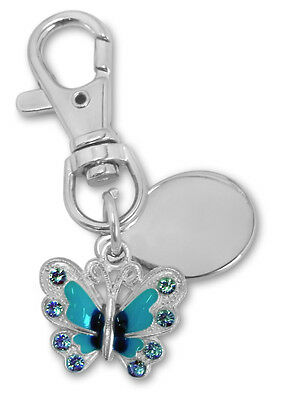 personalised metal ladies dress charm in velvet gift pouch BR666 Engraved