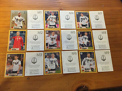 Panini WM 2018 MC Donald Sticker Satz M1 - M9 Germany ungklebt NEU