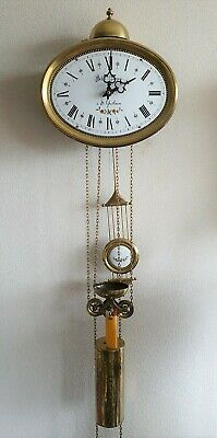 Jewellers Clock Dutch 8 Day Comtoise Style Hermle Bell Strike By Pendules Vintag