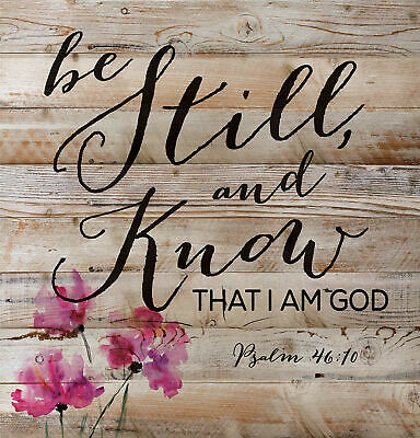"""Hand Made Engraved Wood /""""Be Still Psalm 46:10/"""" Sign Red Oak!"""