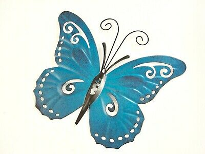 """BUTTERFLY WALL DECOR 71275 BLUE// PINK MULTI 7/"""" X 4/"""" NEW HOME GARDEN POOL YARD"""