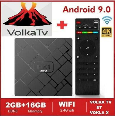 Hk1 Mini 2Go 16Go Android 9.0 Tv Box Quad Core H.265 + Abonnement Volka Pro 2