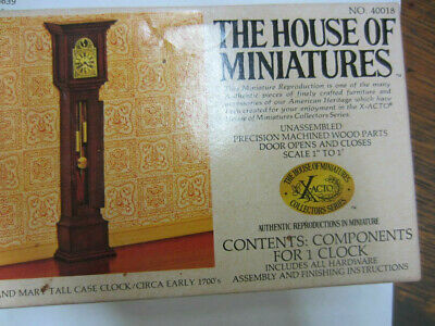 The House of Miniatures X-Acto No. 40018  William and Mary TALL CASE CLOCK