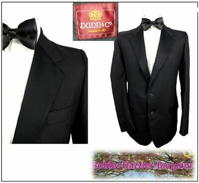 "Dunn & Co Abbey Mens Black Tuxedo Dinner suit Ch41""R W36"" L33"" Ball Vintage"