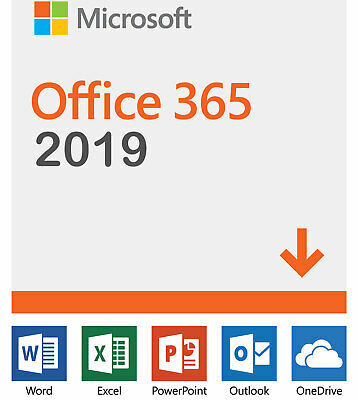 Office 2019 2016 Pro Plus 365 Lifetime License/Windows, Mac, Mobile/5TB Storage