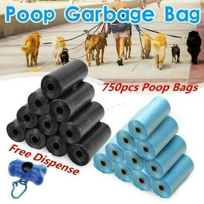 750PC DOGGY BAGS - Pet Dog Cat Poo Poop Pooper Scooper Waste Bag Toilet Clean UK