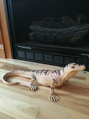 "IGUANA LIZARD DRAGON REPTILE TOY Figure 22"" Vintage 1989"