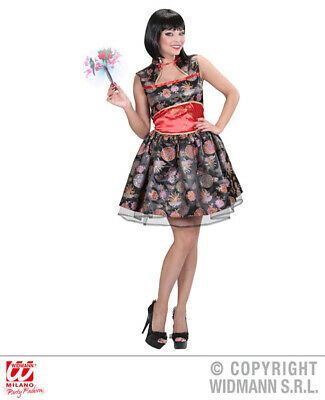 Ladies China Girl Costume Outfit for Womans Chinese Oriental Fancy Dress