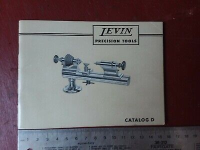 Excellent Levin Precision Tools Catalog D Watchmakers Horology Lathe Chucks Book