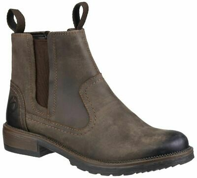 Womens Cotswold Laverton Classic Pull On Leather Ankle Boots Sizes 4 to 8