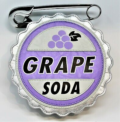 Disneyland Disney Parks GRAPE SODA PIN Purse Bag Tote UP Movie Carl Ellie New