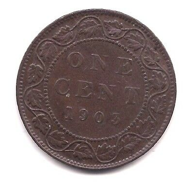 1903 Canada Large Cent--Strong  Crown Details!!