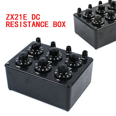 Update ZX21E Variable Decade Resistor Resistance Box DC Resistance 0-111.1110MΩ