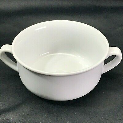 """Williams-Sonoma 5.25"""" ESSENTIAL WHITE Double Handled Cream Soup Bowl"""