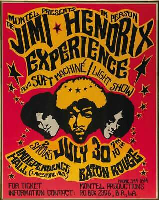Jimi Hendrix  ..Retro Promotional Square Poster A1A2A3A4Sizes