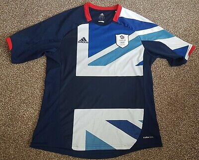 Adidas Olympics London 2012 Team GB Football Shirt Jersey Adult Mens Large L