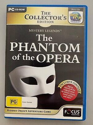 The Phantom Of The Opera  PC Game Hidden Object Mystery Legends Puzzle Adventure