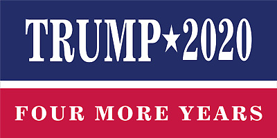 50 lot TRUMP 4 MORE YEAR 2020 OFFICIAL CAMPAIGN BUMPER STICKERS MADE America USA