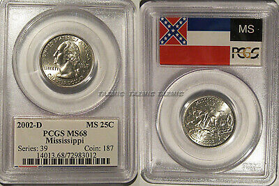 2002-D Mississippi State Quarter Gold Plated Coin 25c