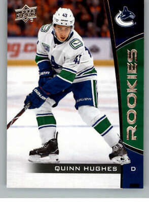 2019-20 UD NHL Rookie Box Set #14 Quinn Huges Vancouver Canucks Hockey Card